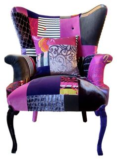 Patchwork chaise by Lisa Whatmough 01 Exquisite Patchwork Furniture with a Modern Twist
