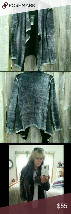 Reverse Dyed Cardigan Reverse Dyed Cardigan. Featuring a reverse-dyed treatment, this cardigan delivers an edgy, worn in look. Open front, long sleeves Sweaters Cardigans