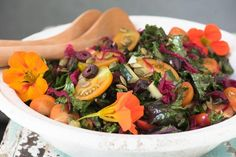 There is nothing like a great massaged kale salad. When your body is craving greens, this is one of the best kinds of salads to make. Filled with beautiful colors and plenty of phytonutrients, this is the perfect salad to go with any meal or have on its own. Click here for printable PDF.