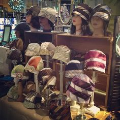 Cloche hats from men's ties.... Lulus Upcycling Lounge Unfiltered : Cant get enough!!