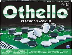 Amazon.com: Othello - The Classic Board Game of Strategy for Adults, Families, and Kids Age7 and up : Toys & Games Top Board Games, Wooden Board Games, Classic Board Games, Family Game Night, Family Games, Games To Buy, Fun Games, Make Your Own Game