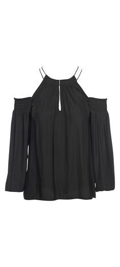 Ramy Brook Heidi Long Sleeve Top in Black / Manage Products / Catalog / Magento Admin