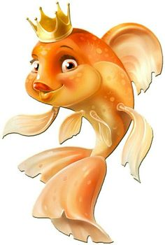 the cutest golden fish Cartoon Clip, Cartoon Fish, Cute Cartoon, Clipart, Black Goldfish, Logo Image, Golden Fish, Art Pictures, Photos