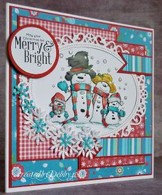 A Scrapjourney: Family Snowpeople
