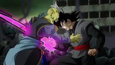 Gowasu and Black Goku Black Goku, Dragon Ball Z, Dbz, Zamasu Black, Hero Movie, Paint Background, King Kong, Fandoms, Asia