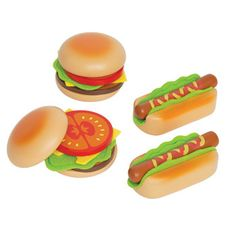 Hamburgers & Hot Dogs by Hape Toys - Free Shipping - Sweetbottoms Baby Boutique