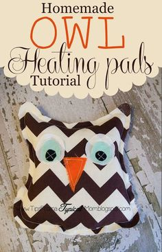 Homemade Owl Microwave Heating Pads.  My daughter cut out all the pieces herself (she is 13) then I helped her sew these.  These would be perfect for Christmas Friend Gifts!  My kids get leg cramps at night and these are lifesavers!