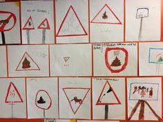 Pas op: Schietende aliens... Leerlingen van De Lichtstraat hebben zelf verkeersborden ontworpen
