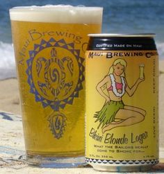Beer Review: Bikini Blonde Lager - Maui Brewing Company #Lager #beer #beershark