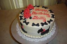 Scottie Dog cake with roses