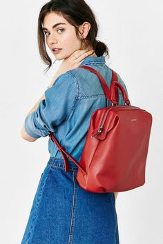 Shop Matt & Nat Vignelli Backpack at Urban Outfitters today. Backpack Outfit, Red Backpack, Backpack Bags, Matt And Nat Backpack, Duffle Bags, Messenger Bags, Vegan Handbags, Vegan Leather, Passion For Fashion