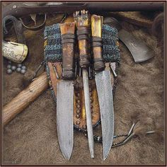 A Ciboleros buffalo hunting knife set and sheath? - The Knife Network Forums : Knife Making Discussions Case Knives, Knives And Tools, Knives And Swords, Global Knives, Global Knife Set, Hunting Knife Set, Hunting Knives, Hunting Gear, Longhunter