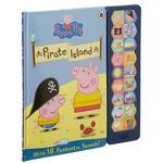 Peppa Pig and her friends are going out for the day on Grandpa Pig's boat, press the 13 sound buttons to bring their adventures on Pirate Island to life. There is also an interactive Peppa game to play at the end of the book. http://tidd.ly/c7dc0dda #peppapiggifts #peppaandgeorge #peppapig #gift