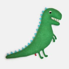 Woody the Dinosaur Knitted Lambswool Plush Soft Toy - Made to order