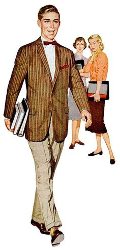 American Institute of Mens and Boys Wear 1957 (by Captain Geoffrey Spaulding… Vintage Advertisements, Vintage Ads, Vintage Style, Vintage Fashion 1950s, Victorian Fashion, Ivy Style, Boys Wear, Sharp Dressed Man, Romance