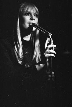 """Nico on stage, 1966, in Andy Warhol's Exploding Plastic Inevitable, """"I'll be your mirror"""""""