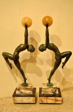 max le verrier | MAX LE VERRIER SCULPTURE LUEUR ART DECO 1930