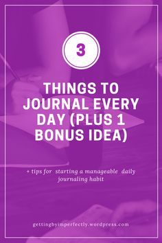 #journal #journaling #gettingbyimperfectly