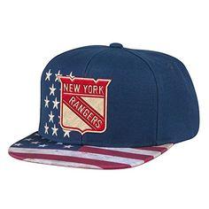 NHL New York Rangers Men's Patriotic Snapback Cap, One Size, Navy