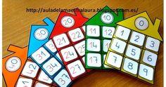 Hoy os muestro más material ABN: CASITAS DE LAS FAMILIAS En clase trabajamos la tabla del 100 con ayuda del proyector y la p... Kindergarten Math, Teaching Math, Math Games, Preschool Activities, Math Numbers, Math For Kids, Too Cool For School, Toddler Preschool, Math Lessons