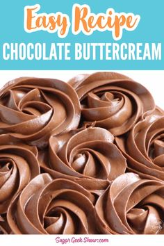 Chocolate Icing Recipes, Best Chocolate Buttercream Frosting, Cake Frosting Recipe, Chocolate Videos, Coffee Buttercream, Chocolate Tarts, Chocolate Cupcakes, Kreative Desserts, Fun Baking Recipes