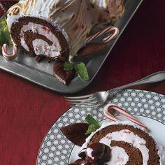 Frozen Chocolate-Peppermint Bùche de Noël
