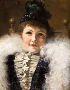 Константин Егорович Маковский (1839-1915).Портрет дамы.
