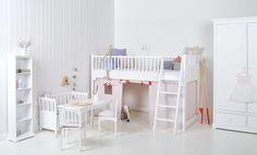Oliver Furniture halbhohes Bett weiss
