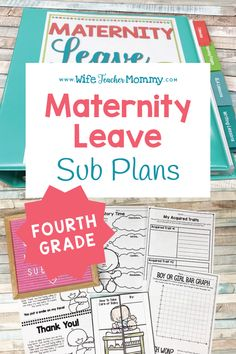 Are you a pregnant grade teacher? Planning for a teacher maternity leave is . Teaching Math, Elementary Teaching, Upper Elementary, Teaching Ideas, Pregnancy Books, Pregnancy Tips, Social Studies Activities, Science Activities, Writing Activities