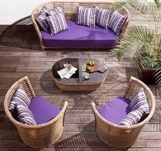 Zaubern Sie stimmungsvolle Ruhezonen mit Tonkino Rattan Gartenmöbel
