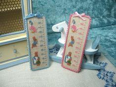 Cross stitch measurer motives Beatrix Potter - Dollhouses Miniature scale 1:12 via Etsy