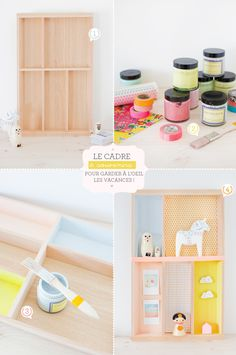 colorful shelf wall box DIY