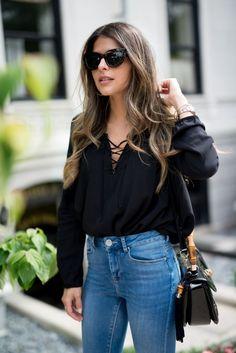bata-preta-decote-cruzado-tiras-camisa-looks-comprar