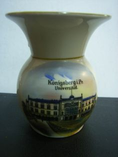 Porzellan Andenkenvase Universität  KÖNIGSBERG Ostpreussen ca. 1930