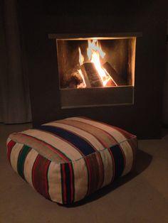 Breng wat kleur in huis met deze fantastische Marokkaanse kussens, Kelim poef! Nu te bestellen voor 89,- euro