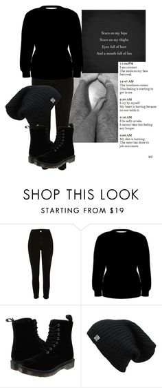 """Hiding my scars"" by style-angel123 ❤ liked on Polyvore featuring beauty and Dr. Martens"