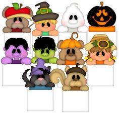 Baggie Buddies (Fall & Halloween) - Treasure Box Designs Patterns & Cutting Files (SVG,WPC,GSD,DXF,AI,JPEG)