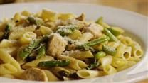 Penne with Chicken and Asparagus Recipe, less oil though, and I'd add ...