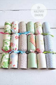 DIY Wallpaper Crackers: The Yvestown Blog http://www.yvestown.com