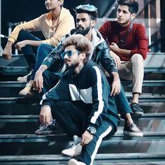 Power Rangers Mumbai Force 🔥 Black Ranger : @amirsiddiqui786  Blue Ranger : @siddiquifaizal  Red Ranger : @tanveer_zayn  Yellow Ranger : @merealsrk786 . . . 📷 @shadank69 . . . #teamnawab #team #squad #squadgoals #family #brothers #keepgoing #keepsupporting #kbye Squad Goals, Zayn, Power Rangers, Mumbai, Tik Tok, Dancer, Actresses, Actors, Yellow