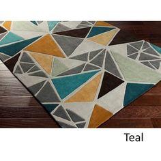 Hand-Tufted Barton Contemporary Abstract Area Rug-(2' x 3')
