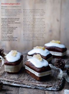 Photo Only.  Recipe is understandable in the background.  Swedish ginger cakes