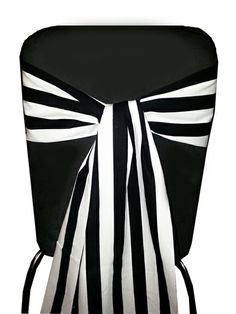 Black & White Stripe Chair Sashes, Backdrops, Table Runners and Accessories - www.marrighi.com.au Striped Chair, Striped Table Runner, Xmas Decorations, Birthday Party Decorations, Carnival Birthday, Black White Stripes, Black Sequins, Black And White, Wedding Events