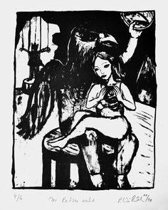Petra Wildenhahn   Der Retter naht   25,5 x 20 cm   Lithographie   Papiergröße 42 x 20 cm   2010   Auflage 6   signiert