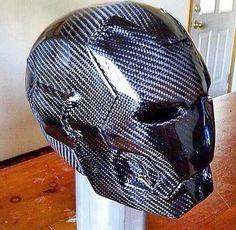 """Carbon fibre """"Iron man"""" helmet"""
