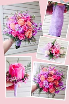 Pink and Lavender Wedding Bouquet by Heather Petrus Flowers