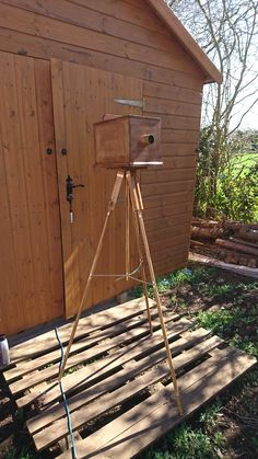 Edwardian box camera and tripod built for GDS production of When We Are Married