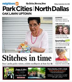 09/28 State Fair of Texas edition: At age 94, former Neiman Marcus seamstress Rose Landin of Dallas creates Christmas stockings and guides visitors.