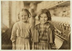Frightfully young factory workers, photographed by Lewis Wicked Hine around the turn of the 20th Century