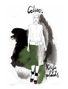 Season forecast illustration by Judit Garcia-Talavova in Remix issue #74. Love Celine!